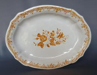Antique 18th C DISH IN TOULOUSE FAIENCE