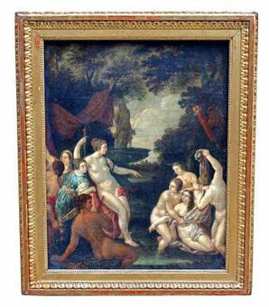 Antique 17th C FLEMISH OIL ON CANVAS
