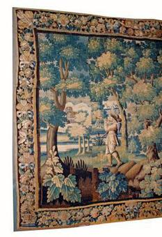 Antique 17th C AUBUSSON TAPESTRY