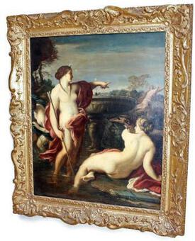 Antique 17th C OIL ON CANVAS