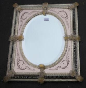 Antique 1950/70'  Mirror Murano 63 X 54