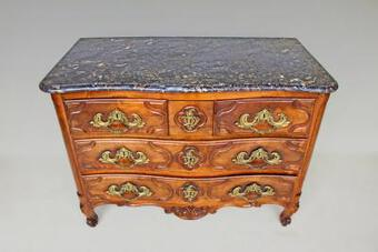 Antique 18th C CHEST OF DRAWERS SIGNED JACQUIER JME