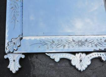 Antique 1900' Venitian mirror with Daggers