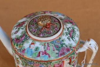Antique CANTONESE TEAPOT