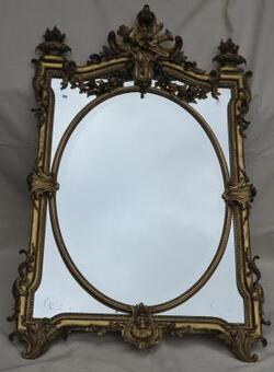 Antique 1880' Mirror parecloses gilded with fire urns