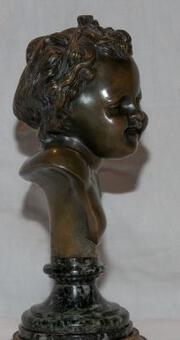 Antique BUST SIGNED CLODION