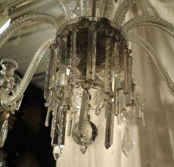 Antique Bohéme cristal Chandelier with 10 arms of light