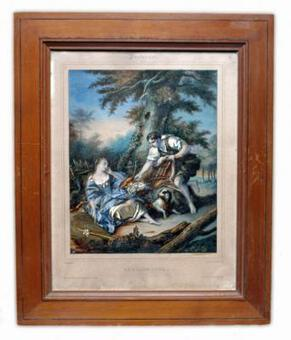 Antique ETCHING AFTER FRANCOIS BOUCHER