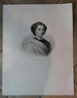 Antique 19th C ETCHING OF THE QUEEN OF NAPLES