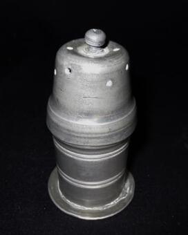 Antique 18th C PEWTER SALT CELLAR