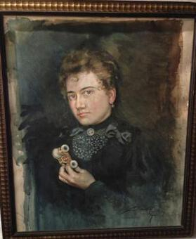Antique 19th C PORTRAIT