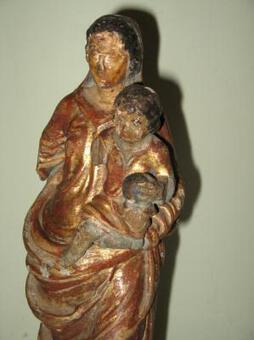 Antique 18th C CARVED WOOD STATUE