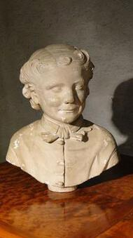 Antique 18th C PLASTER BUST