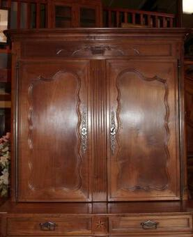 Antique LOUIS XV PERIOD HIGH BUFFET CUPBOARD