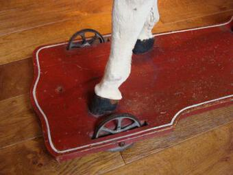 Antique 19th C HORSE ON WHEELS