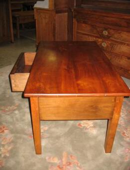 Antique 19th C CONVERTED FARMHOUSE  TABLE