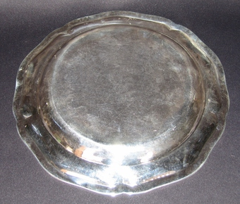 Antique 18th CENTURY SILVER DISH