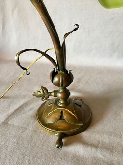 Antique ART NOUVEAU FLORAL LAMP