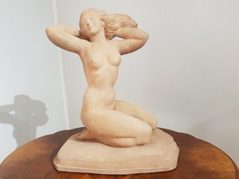 Antique ART DECO PERIOD SCULPTURE