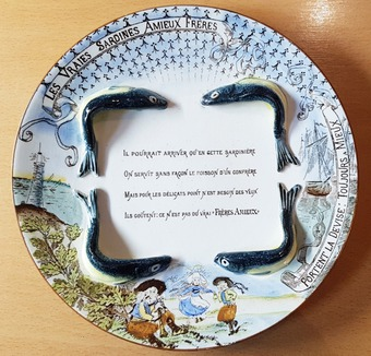 ADVERTISING PLATE:  AMIEUX FRERES