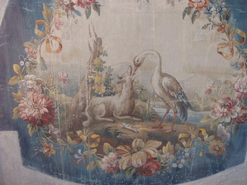 Antique AUBUSSON TAPESTRY CARTOON