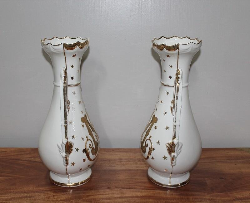 PAIR OF 19th C VASES