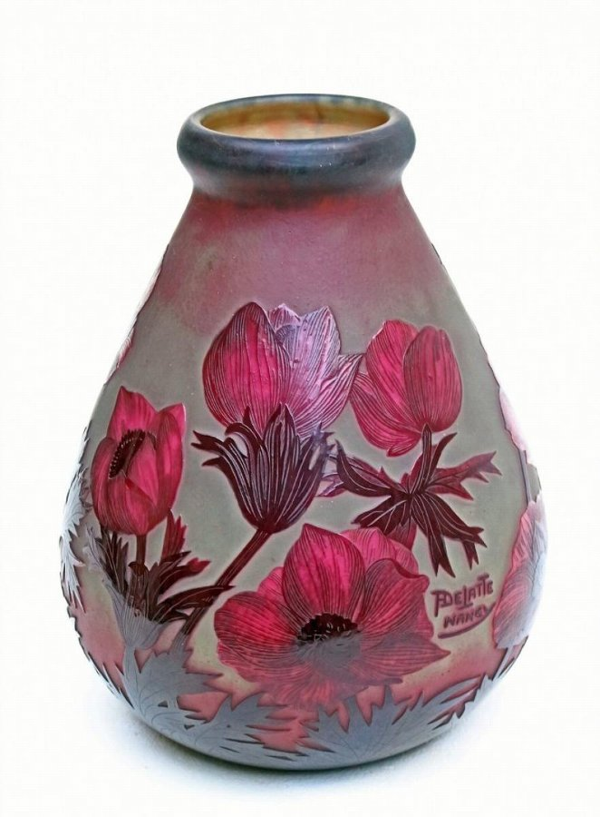 ART DECO PERIOD VASE SIGNED  André DELATTE Nancy