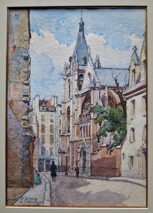 WATERCOLOURS OF ROADS IN PARIS