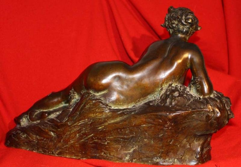 Antique ART NOUVEAU PERIOD BRONZE BY FRANCOIS RAOUL LARCHE