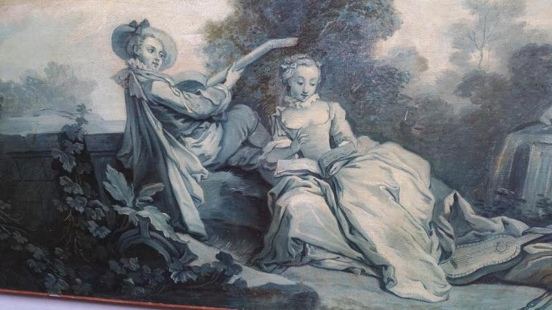 "French painting "" grisaille "" school of Boucher"