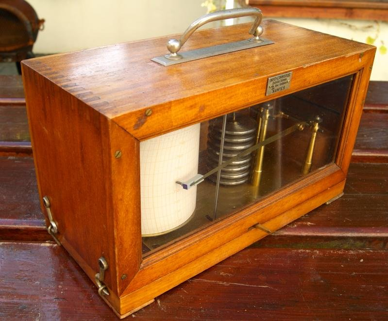 antique Barograph or recording barometer, made by Richard Freres