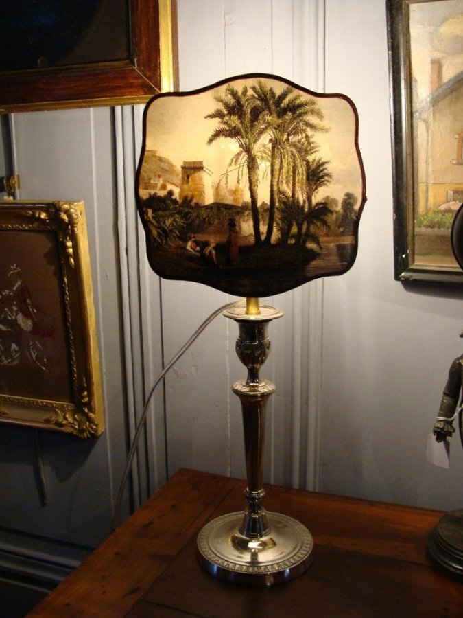 PAIR OF SILVER PLATE LAMPS