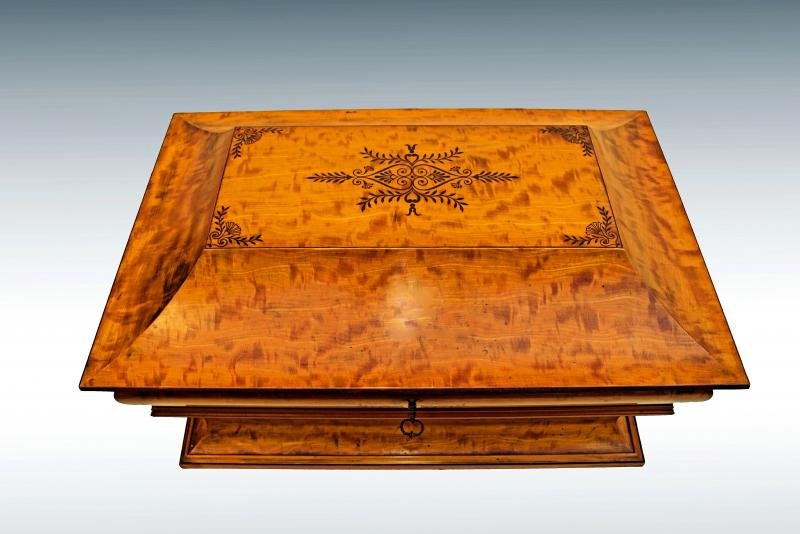 Antique CHARLES X PERIOD MARRIAGE  BOX