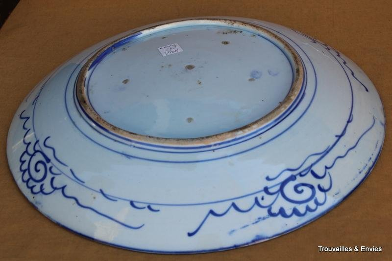 Antique QUIMPER CAKE PLATE