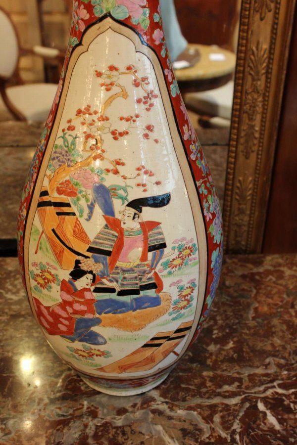 Antique PAIR OF JAPANESE VASES