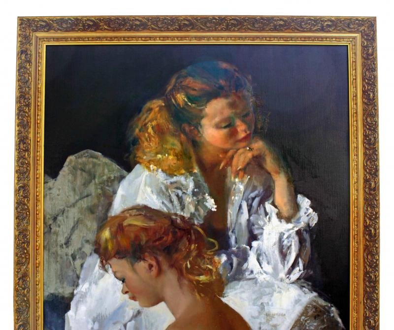 Antique OIL ON CANVAS BY PIERRE LAURENT BRENOT
