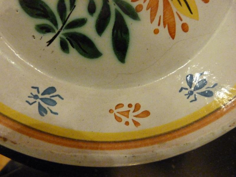 PAIR OF NEVERS FAIENCE PLATES