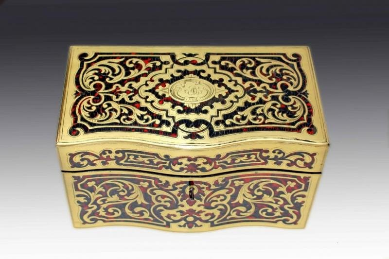 Antique NAPOLEON III PERIOD TEA CADDY