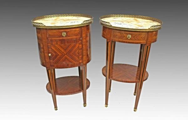 PAIR OF LOUIS XVI STYLE TABLES