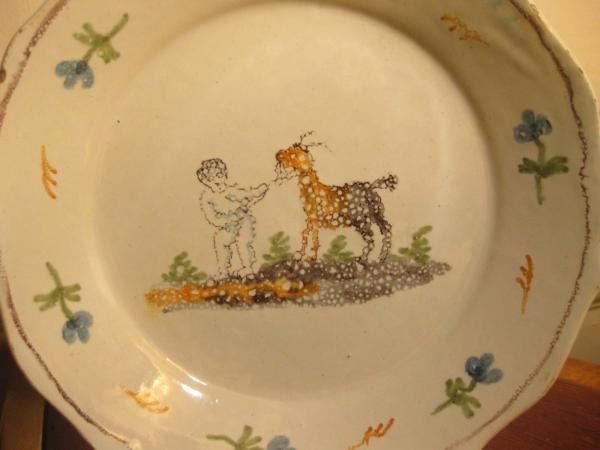 18th C NEVERS FAIENCE PLATE