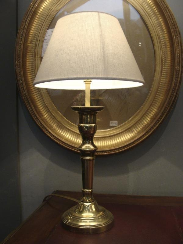 GILT BRASS LAMP