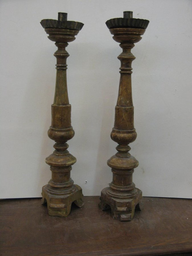 Antique PAIR OF CANDLESTICKS