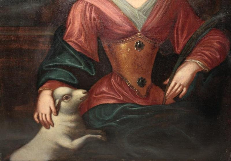 Antique 17th C OIL ON CANVAS ATTRIBUTED TO HENRI BEAUBRUN