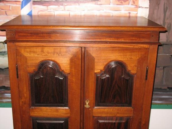 COLONIAL CABINET IN TEAK AND ROSEWOOD