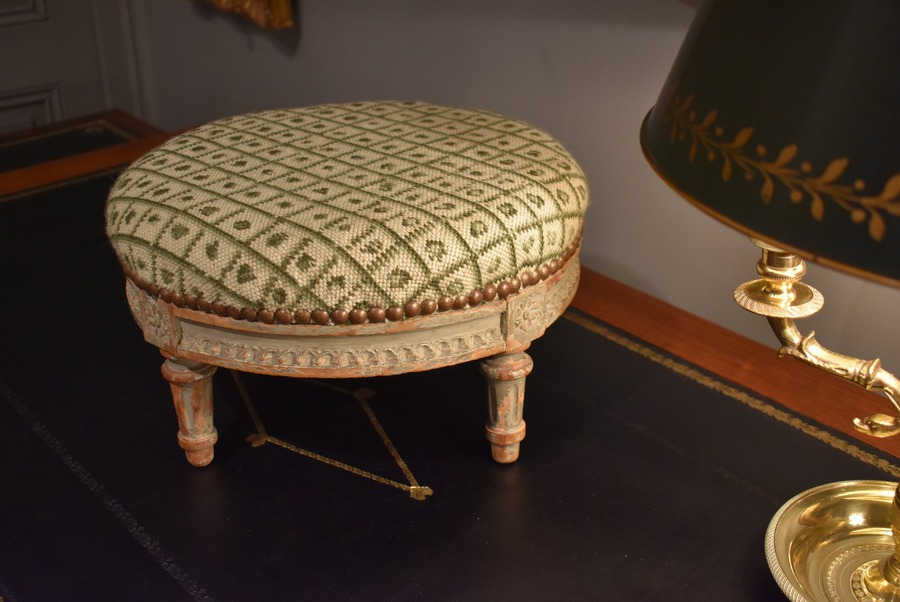 Antique LOUIS XVI STYLE FOOT STOOL