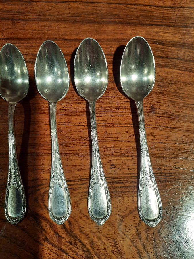 Antique SILVER PLATE SPOONS