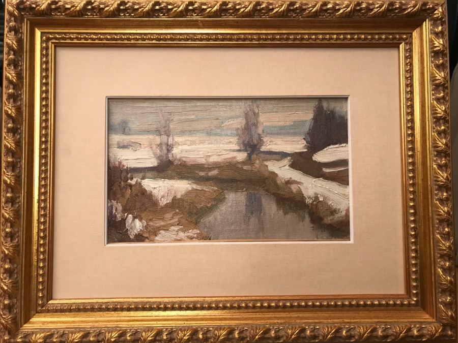 Antique OIL ON CANVAS signed ZINGG