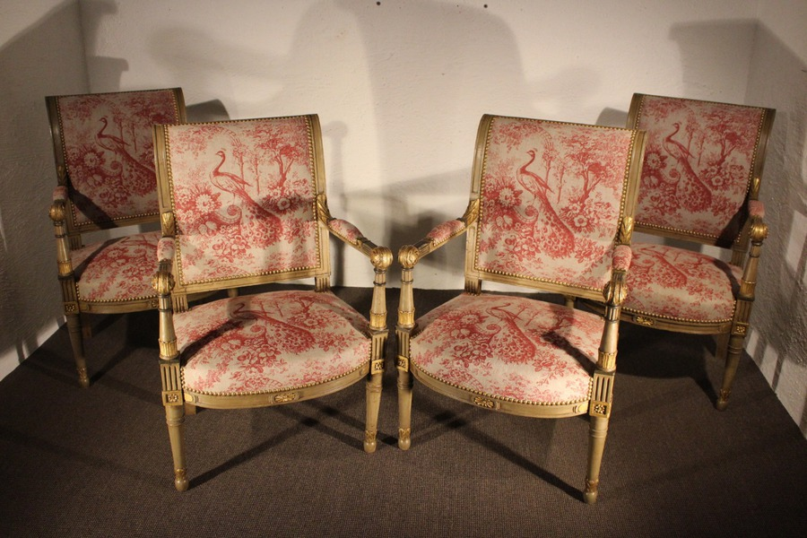 Antique FRENCH DIRECTOIRE PERIOD ARMCHAIRS