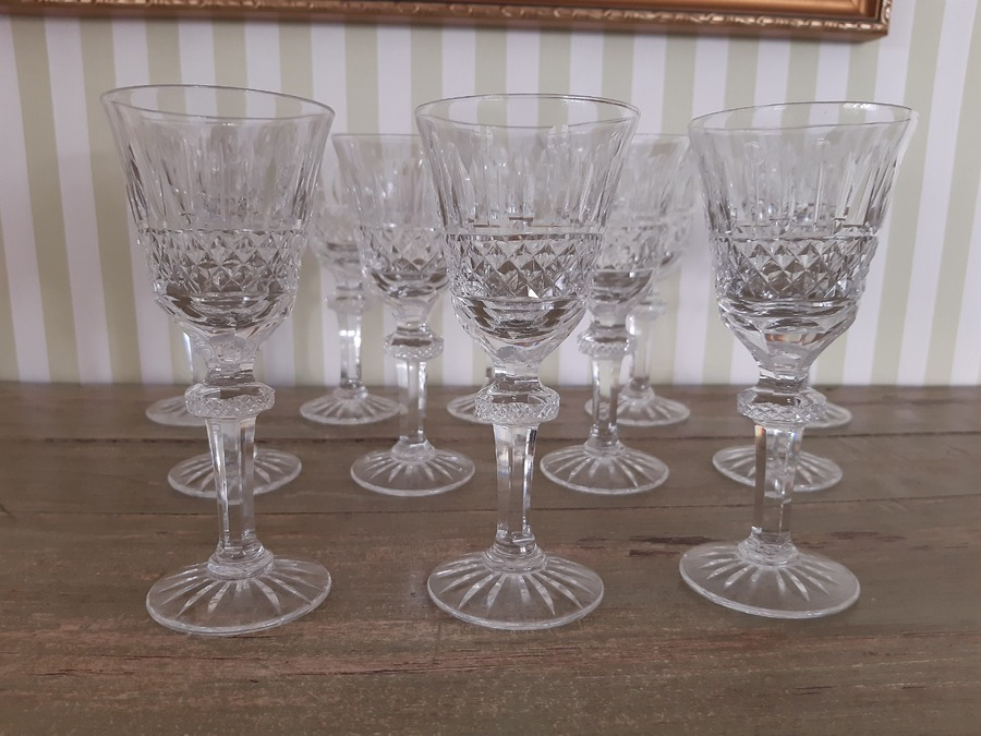 Antique CRYSTAL GLASS SERVICE