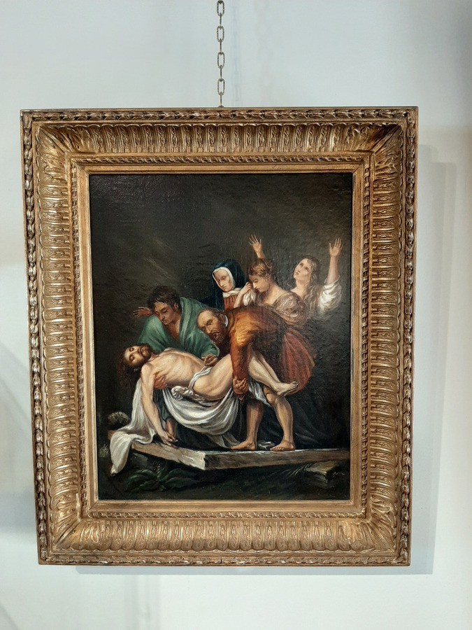 Antique LATE 18th CENTURY REPRODUCTION OF THE ENTOMBMENT